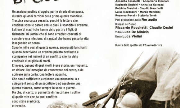 """""""1915-1918 – 1261 Giorni di Guerra"""" di e con Luca Violini"""