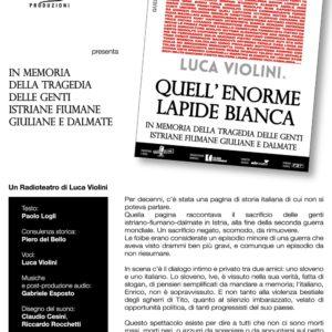 """""""Quell'enorme Lapide Bianca"""" con Luca Violini"""